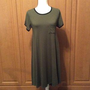 Dress LuLaRoe XS Khaki Color Pull On